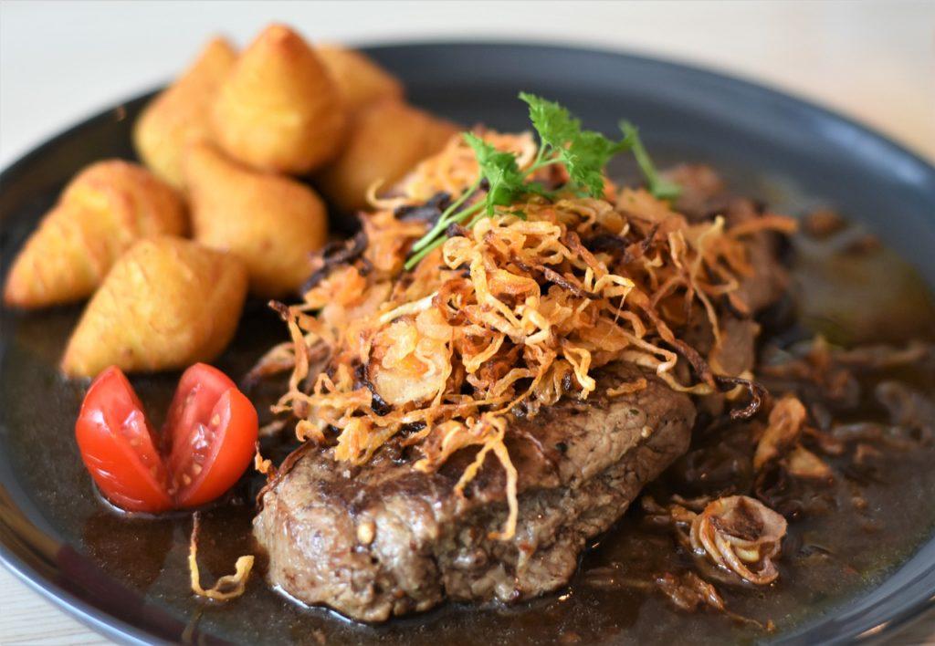 steak, beef, meal